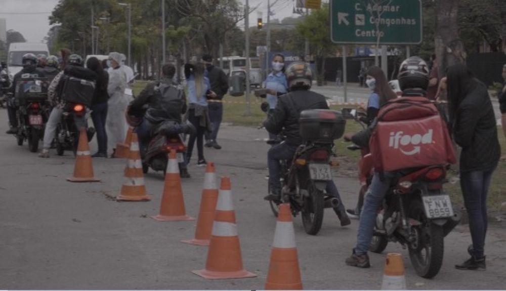 Motoboys são atendidos por equipes profissionais - Foto: divulgação
